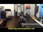 Figure Competition Training - Medicine Ball workout