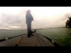 Fishing Windblown Points During the Fall in Waukesha County Wisconsin