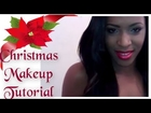 Christmas Makeup Tutorial: Gold & Blue Smoky Eye Look