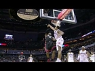 LeBron James dunks on / gets blocked by Henderson's head (Dec. 28, 2011)