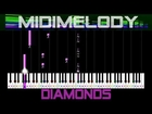 DIAMONDS by Rihanna Synthesia Easy Piano Tutorial