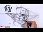 Learn How to Draw an Old Man's Face in Two Point Perspective Part 2 of 5