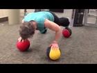 Push-ups on 4 medicine balls with Pat
