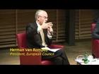 Warsaw University student questions Van Rompuy on EU democracy