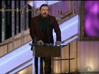 GOLDEN GLOBES: 'Keep your speeches short' says Ricky Gervais
