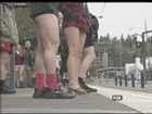 No Pants Day Celebrated On MAX Trains